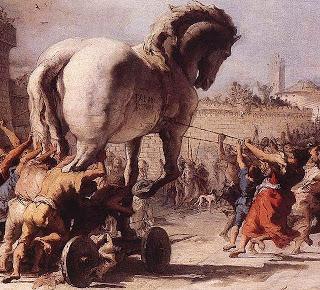 La entrada del caballo en Troya. Domenico Tiepolo.