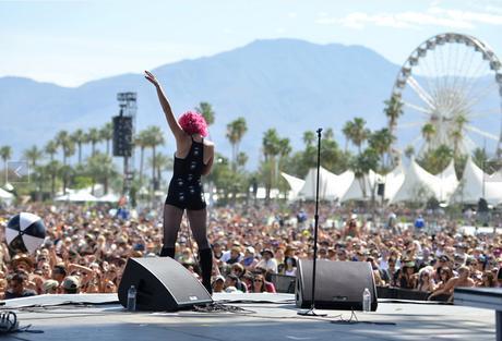 actuación en el Coachella Festival