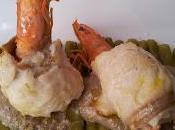 Rollitos pescado langostinos champiñones
