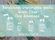 Banderines imprimibles gratis para pajitas