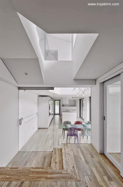 Casa moderna y tradicional integrada al entorno natural en for Casa moderna corea