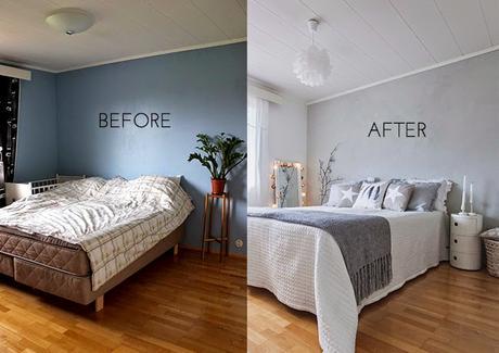 Antes y despu s como cambiar la imagen de un dormitorio for Como decorar un piso de alquiler con poco dinero