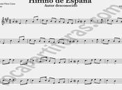 Himno Nacional España Partitura Saxofon Tenor Saxofón Soprano Himnos Mundo