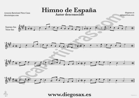 Himno Nacional Espana Partitura Del Himno Nacional