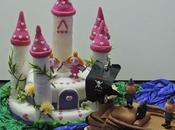 Pastel fondant princesas piratas!!! bizcocho chocolate