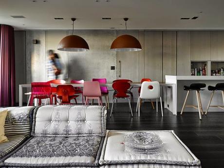 Diseño interior en duplex de Taiwan