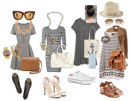 Un vestido marinero. 4 estilos.