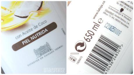 NUTRE TU PIEL CON GEL NUTRI OIL ACEITE DE COCO DE LA TOJA