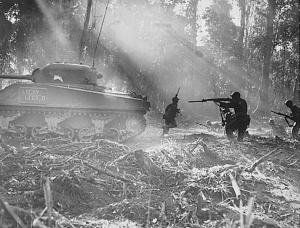 Fuerzas americanas en Bougainville, 1944