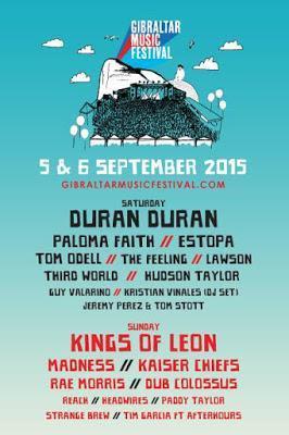 Kaiser Chiefs, Madness y Paloma Faith se suman al Gibraltar Music Festival 2015