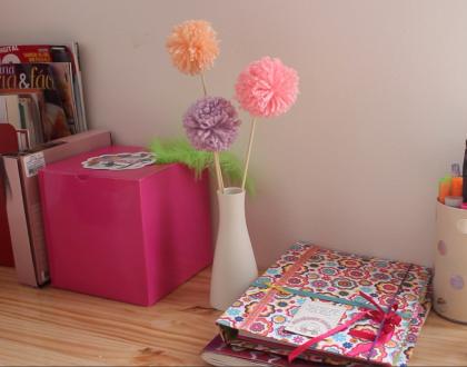 Decora tu casa con flores de lana!
