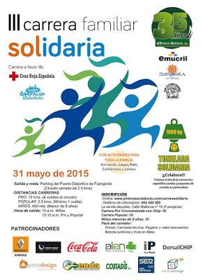 III Carrera Familiar Solidaria Fuengirola 2015, Domingo 31 de Mayo