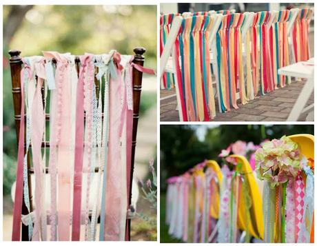 Decorar con telas las sillas para una boda paperblog - Decorar pared con tela ...