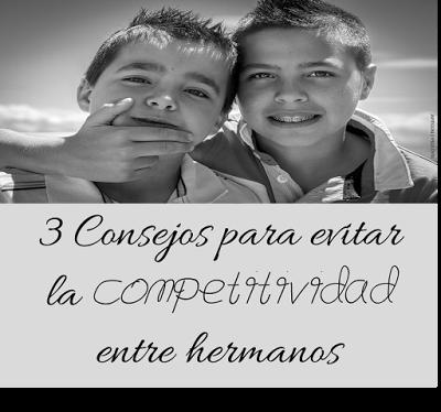 3 Consejos para evitar la competitividad entre hermanos