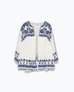 Embroidered Zara jacket