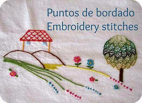 Puntos de bordado: bastilla / Embroidery stitches: laced running stitch