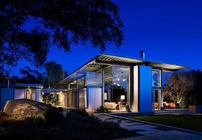 casa de acero y vidrio en montecito