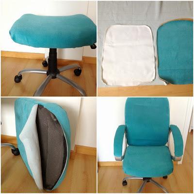Diy tapizar una silla de ordenador paperblog - Tapizar una silla ...