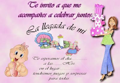 Tarjetas De Invitación Para Baby Shower Niña Paperblog
