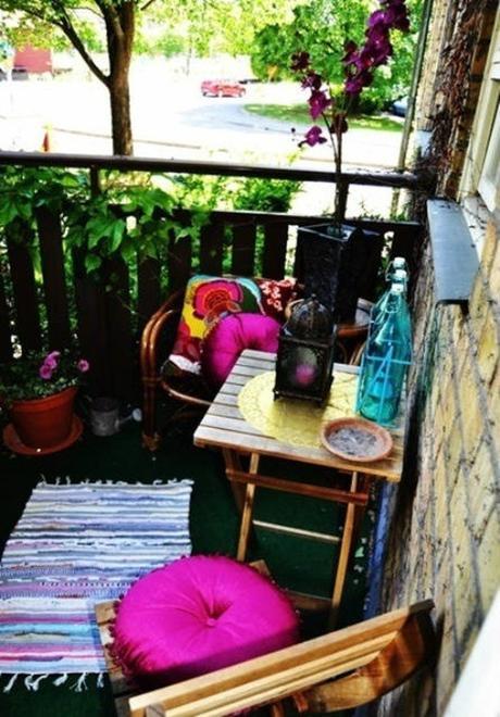 Decoraci n de balcones y terrazas peque as paperblog for Alfombras bambu conforama