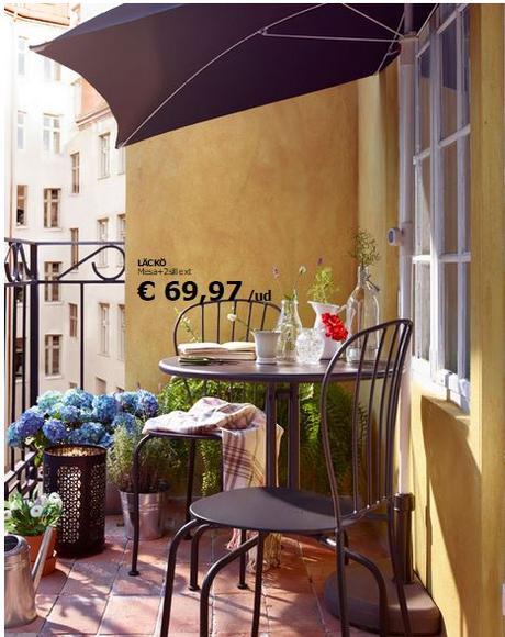 Decoraci n de balcones y terrazas peque as paperblog - Terrazas pequenas ikea ...