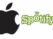 Apple ingresaría mercado música línea para competir Spotify.