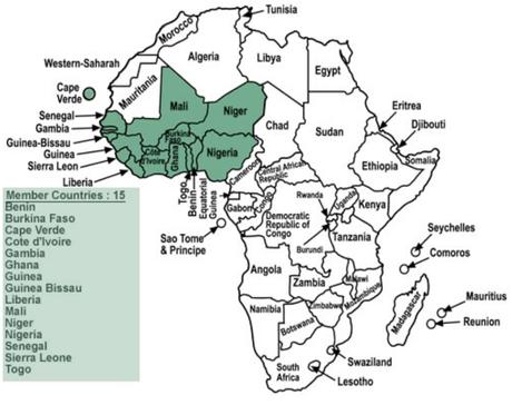 Estados miembros de la CEDEAO