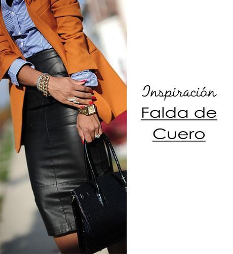 1563188ffa Inspiración Falda Lápiz de Cuero - Paperblog