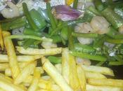 Sargo horno espárragos verdes patatas
