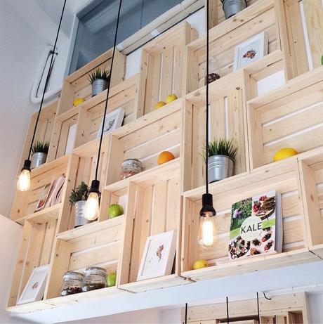 Estanter as con cajas de madera paperblog - Cajas para estanterias ...