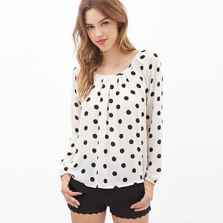 Blusas con lunares blanco y negro paperblog - Blusas de ultima moda ...