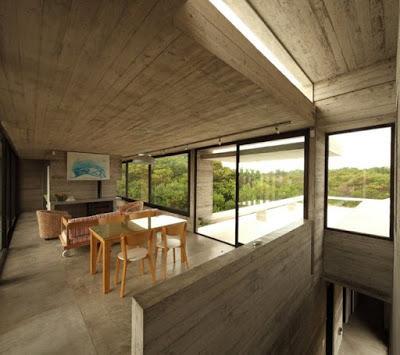 casa de hormigon moderna en costa esmeralda
