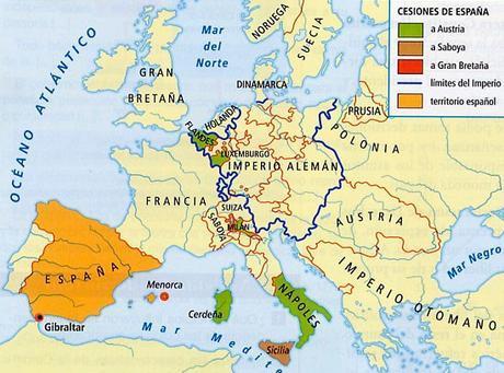 mapa tratado de utrech