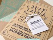 Invitaciones boda: Invitación boda kraft otra dorado