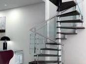 Barandas escaleras cristal: espacio doble diseño