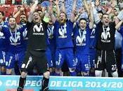vestuario Inter Movistar celebra todo alto consecución título Liga