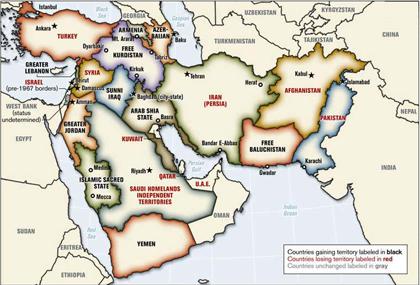 ¿Se podría decir que la 3ª Guerra Mundial comenzó en Mayo de 2006?: Construcción de un nuevo mapa de Oriente Medio.