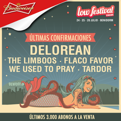 Delorean completan el cartel del Low Festival 2015