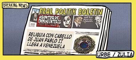 Front page cómi - reliquia de Juan Pablo II para URBE Venezuela