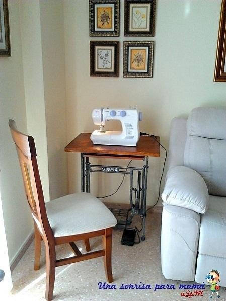 reutilizar pies de máquina de coser antigua