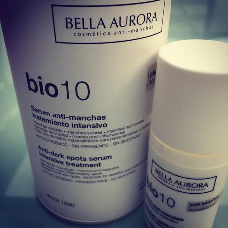 Experimentando con el nuevo Bio 10 anti-manchas de Bella Aurora