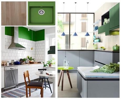 Fregaderos de color en el dise o de la cocina paperblog - Fregaderos de diseno ...