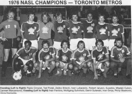 Toronto Metros campeón de la NASL en 1976