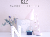 DIY: Marquee letter Letra luces