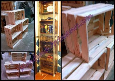 replicas de antigas cajas de madera para fruta para que utilizarlas