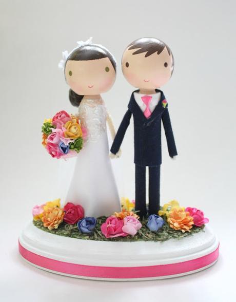 Cake toppers personalizados de madera para la tarta