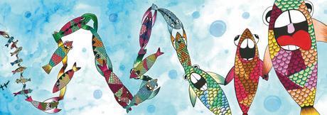 La ballena azul, ilustración, Nico Abad y Rebeca Khamlichi