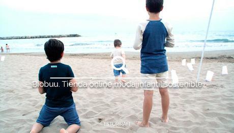 Biobuu. Tienda online de moda infantil sostenible. Sorteo. niños playa