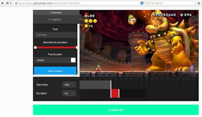 Como crear gif animados de videos en YouTube