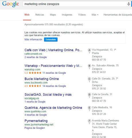 Búsqueda de Marketing Online Zaragoza